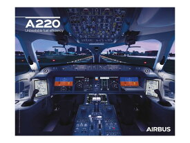【Airbus A220 Cockpit View Poster】 エアバス コックピット ポスター