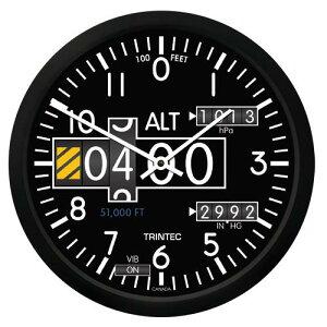 【Trintec Modern Altimeter Round Clock】 トリンテック 航空計器 高度計 掛け時計 2060