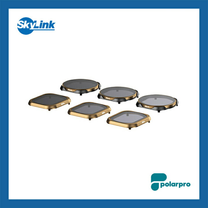 PolarPro - Mavic 2 Pro シネマシリーズフィルターセット 6-Pack (ND4, ND8, ND16, ND4/PL, ND8/PL, ND16/PL)