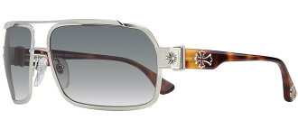 Chrome Hearts HUMMER sunglasses Brushed Silver - Butterscotch Tortoise