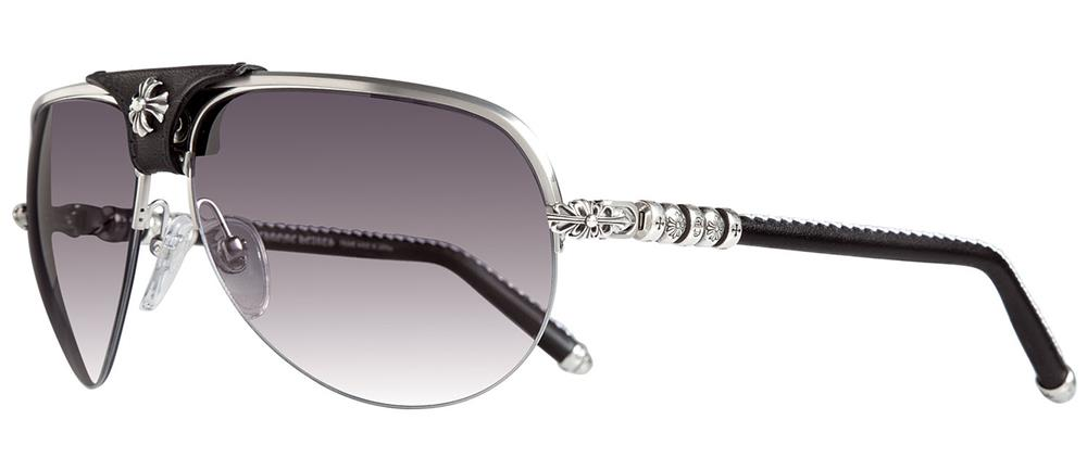 BALLS Brushed Silver-Black Leather クロムハーツ アイウェア 眼鏡