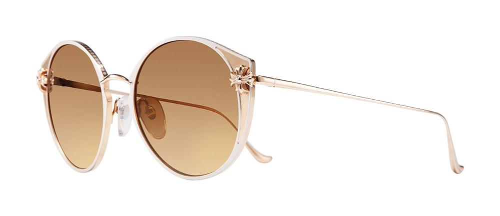 CHROME HEARTS VAJAZZLE WHITE PEARL ENAMEL/GOLD PLATED 54-20-132 クロムハーツ サングラス 2019 EYEWEAR