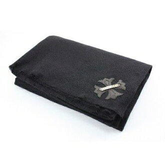 "CHROME HEARTS BLANKET铬赫茨"" WHOLE SLEEPING NEXT TO YOU ""ブラックカシミアブランケットケルティッククロスパッチ"
