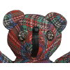CHROME HEARTS TEDDY BEAR PLAID chrome hearts teddy bear checked pattern