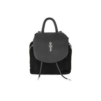 CHROME HEARTS DRAWSTRING SUEDE BACKPACK DAGGER FLAP鉻赫茨DRAWSTRINGスウェードバックパックダガーフラップ