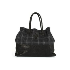 CHROME HEARTS LARGE TOTE BAG クロムハーツ トートバッグ with snap セメタリークロス チェック柄