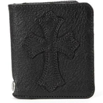CHROME HEARTS DR DIGIACOMO WALLET W/CEM CROSS PTCH铬赫茨DR DIGIACOMO uorettosemetarikurosu