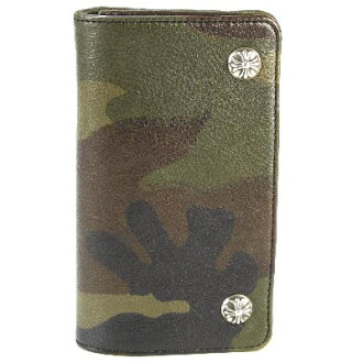Chrome hearts 1 zip wallet Camo leather wallet