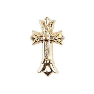 铬 SML 的心 DBL 十字架吊坠铺平道路钻石铬小双十字架吊坠铺金