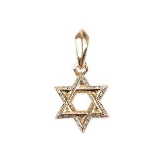 铬的心 CH 大卫之星铺平钻石魅力黄色大卫之星钻石铺魅力
