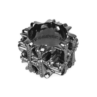 Chrome hearts cemetery square ring black diamond