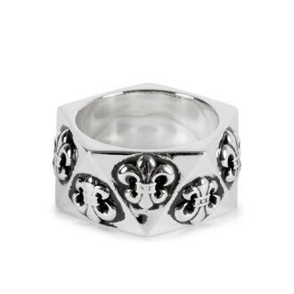 CHROME HEARTS PENTAGON RING BS FLUER chrome PENTAGON ring BS flare
