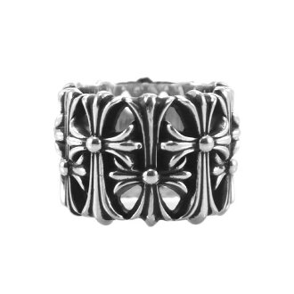 CHROME HEARTS CEMETERY RING chrome cemetery cross ring