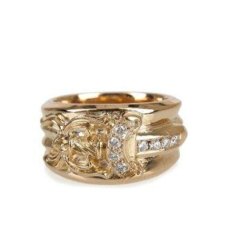 Chrome 的心 ダガーリング 22 鋪平道路鑽石的金戒指