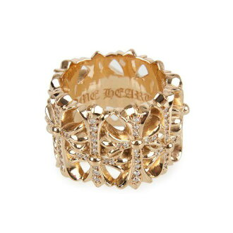 Chrome hearts ring cemetery 22 Gold Diamond-paved