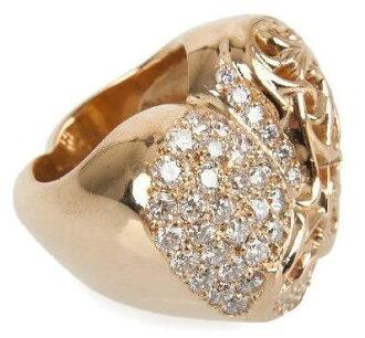 Chrome hearts heart ring pavé diamonds