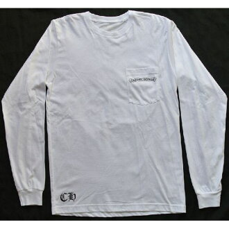 CHROME HEARTS LONG SLEEVE T-SHIRT WHITE CH PLUS/CROSS铬赫茨人长T恤白CH加