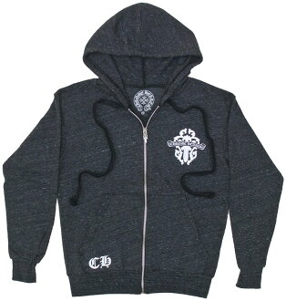 CHROME HEARTS HOODIE ZIP HAIRY DAGGER chrome sweet Parker zip HAIRY dagger