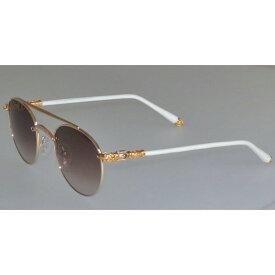 955dfefc240 CHROME HEARTS BUBBA クロムハーツ サングラス GOLD WHITE LEATHER 眼鏡