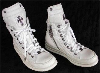 鉻赫茨裏克歐文的(RICK OWENS)運動鞋白皮革(訂貨)