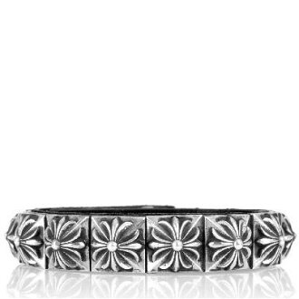 CHROME HEARTS PYRAMID STUDS LEATHER STRAP BRACELET chrome hearts bracelet!!