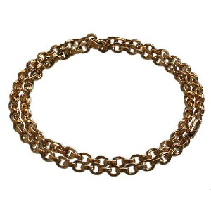CHROME HEARTS 22K PAPER CHAIN NECKLACE クロムハーツ 22金 ペーパーチェーン ネックレス 24インチ