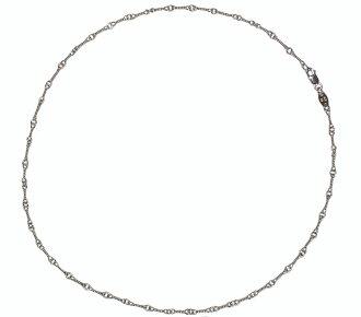 铬的心扭链项链 18 K 白金铬心项链链 18k 白金扭 20 英寸