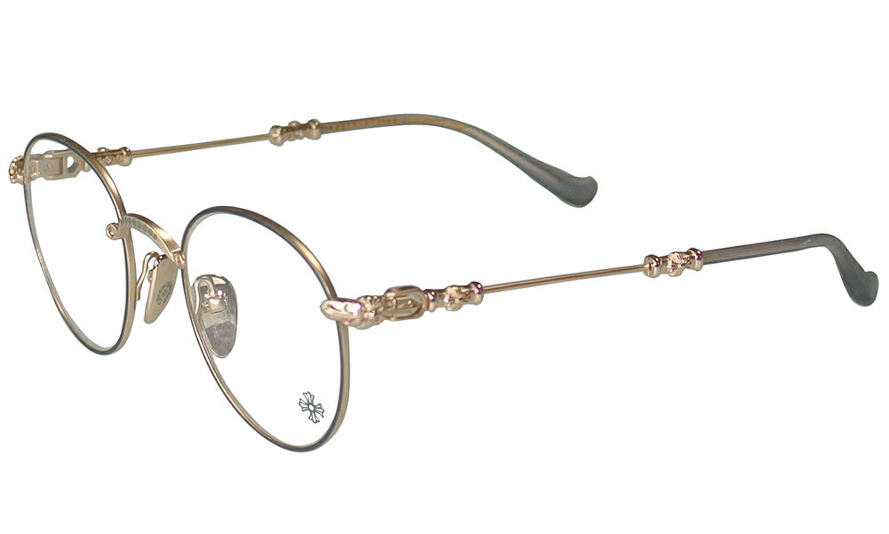 CHROME HEARTS BUBBA-A ORB/MATTE GOLD PLATED - MATTE GRAPHITE 49-22-145 クロムハーツ アイウェア 眼鏡