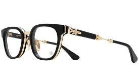 CHROME HEARTS DUCK BUTTER Black/Gold Plated 52-27-152 クロムハーツ アイウェア 眼鏡