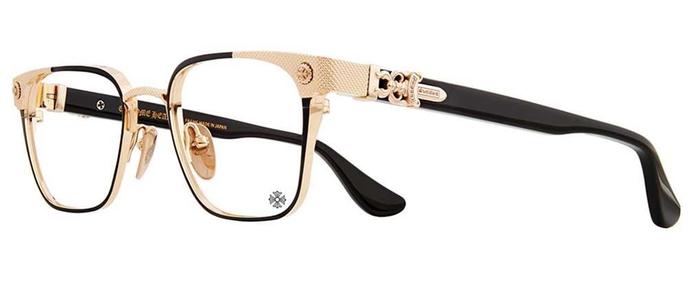 NASTYFREEZE MATTE BLACK GOLD PLATED 53-21-142 クロムハーツ アイウェア 眼鏡