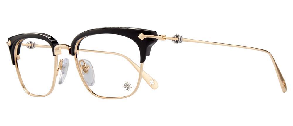 SLUNTRADICTION BLACK GOLD PLATED 52-19-148 クロムハーツ アイウェア 眼鏡