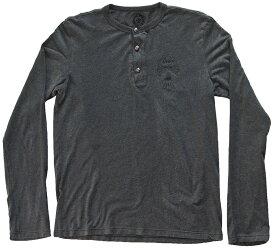 CHROME HEARTS LONG SLEEVE T-SHIRT GREY クロムハーツ 長袖Tシャツ シルバー クロスボタン グレー【中古】