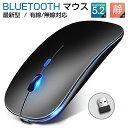 「楽天1位」「最新版 Bluetooth5.2」ワイヤレスマウス USB充電式 マウス 薄型 静音 軽量 光学式 高精度 2.4GHz 3段調…