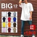 ビッグTシャツ 半袖 メンズ 無地 【 送料無料 】 ビッグシルエット ロング丈 tシャツ ヘビーウェイト コットン ストリート系 Tシャツ オーバーサイズ 大きいサイズ ビックTシャツ ビックシルエ