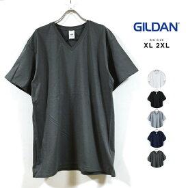 GILDAN ギルダン 4.5オンス ソフトスタイル Vネック ビッグTシャツ 半袖 無地 メンズ 【 送料無料 】 ビッグ 半袖Tシャツ ビッグシルエット Tシャツ ロング丈 vネックtシャツ オーバーサイズ 大きいサイズ ストリート系 白 黒 グレー 紺 チャコール XL 2XL