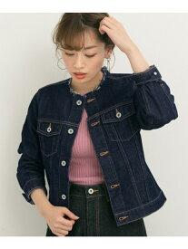 [Rakuten Fashion]USED風ノーカラーデニムジャケット Sonny Label サニーレーベル コート/ジャケット デニムジャケット ネイビー ブルー【送料無料】
