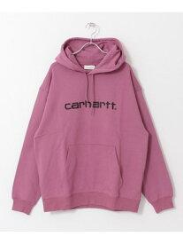 [Rakuten Fashion]carharttWHOODEDCARHARTTSWEAT Sonny Label サニーレーベル カットソー パーカー ピンク ブラック【送料無料】