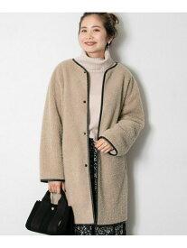 [Rakuten Fashion]ボアパイピングコート Sonny Label サニーレーベル コート/ジャケット コート/ジャケットその他 ベージュ ピンク【送料無料】