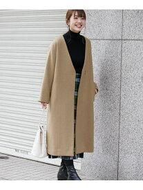 [Rakuten Fashion]【SALE/30%OFF】Vネックウールコート Sonny Label サニーレーベル コート/ジャケット ノーカラージャケット ブラウン ブラック ホワイト【RBA_E】【送料無料】