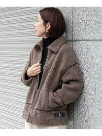 [Rakuten Fashion]【SALE/30%OFF】パイピングボアブルゾン Sonny Label サニーレーベル コート/ジャケット ブルゾン ブラウン ホワイト【RBA_E】【送料無料】