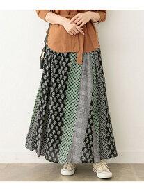 [Rakuten Fashion]パッチワーク柄マキシスカート Sonny Label サニーレーベル スカート スカートその他 ブラック レッド【送料無料】