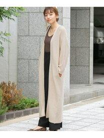 [Rakuten Fashion]ガーター編みロングニットカーディガン Sonny Label サニーレーベル ニット カーディガン ホワイト ブラウン パープル【送料無料】