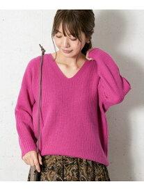[Rakuten Fashion]リッチソフトウールVネック畔ニット Sonny Label サニーレーベル ニット ニットその他 ピンク ホワイト ブラック【送料無料】