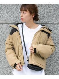 [Rakuten Fashion]グリーンダウンフードジャケット Sonny Label サニーレーベル コート/ジャケット ダウンジャケット ベージュ カーキ ブラック【送料無料】