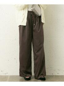 [Rakuten Fashion]シルキーサテンワイドパンツ Sonny Label サニーレーベル パンツ/ジーンズ パンツその他 ブラウン ベージュ ブラック【送料無料】