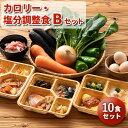 カロリー・塩分調整食Bセット 10食分 冷凍弁当 宅配弁当 減塩  低カロリー 弁当 惣菜 詰め合わせ 介護食 栄養食 時…