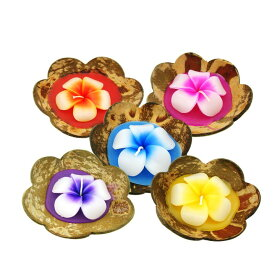 5のつく日はポイント10倍!!ココナッツの殻の中にキャンドル♪タイから直輸入!!全5種オールハンドメイド♪
