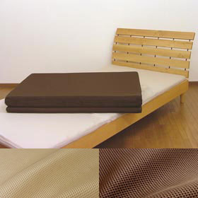 【在庫限り】【送料無料】 三次元スプリング構造体パラレーヴ(TM)を使用した敷き布団 セミダブルサイズ 120×200cm ハニカムメッシュ 三つ折り 腰痛対策