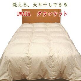 洗えるふとん!イワタ 洗える 干せる ダウンケット シングルロングサイズ   日本製 岩田 寝具 肌掛け布団 肌布団 肌掛布団  イオゾンデルタ加工でグレードアップしました!