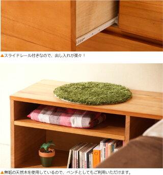 木製ベッド「スタイル(S)シングル【ハイベッド+ベンチチェスト2台】」石崎家具